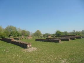 Contouren van het Romeinse castellum