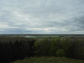 Uitzicht vanaf de uitkijktoren Boersberg