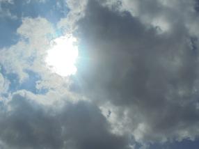 De zon was in de wolken
